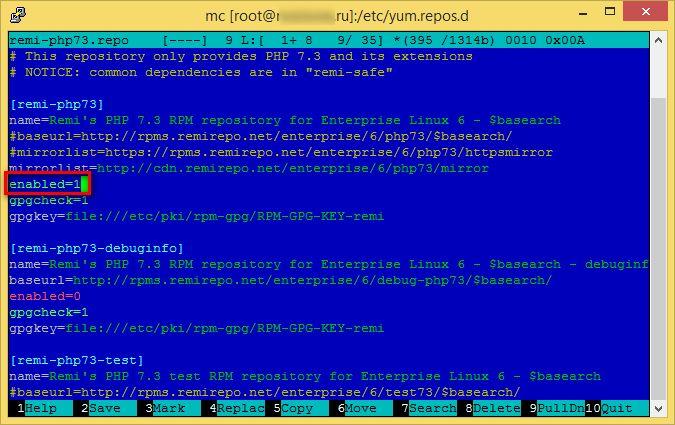 Как обновить PHP5 на PHP7 на CentOS6